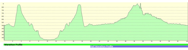 Elevation Profile Marathon 2013