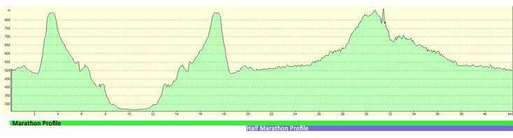 Elevation Profile Marathon 2013